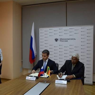 Signing Agreement in Mass Communication Sector with Russian Federation
